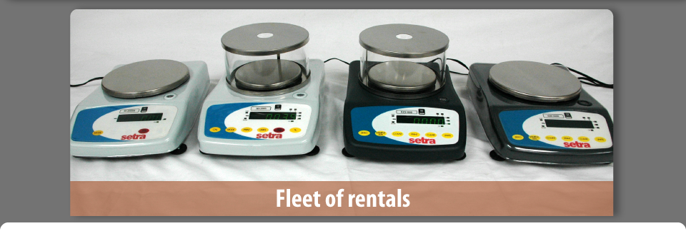 Fleet of rentals - Serta scales