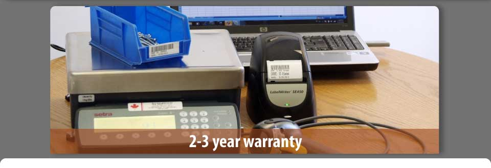 2-3 year warranty - Scale and laptop